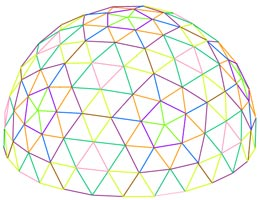 5 frequency Geodesic Dome