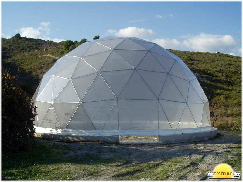 Geodesic domes as greenhouses