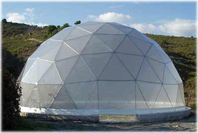 Clear PVC Geodesic Dome Cover